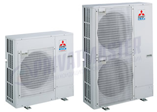 Наружные блоки MITSUBISHI Electric, серия STANDART PU-P-VHA
